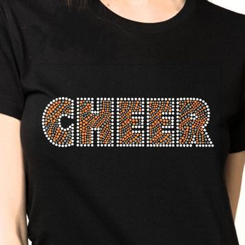 Women's CHEERS Bling Rhinestones T-shirt