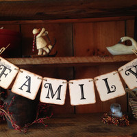 Family Bunting, Family Pennant, Family Garland, Bunting Banner, Bunting