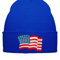 american flag usa Bucket Hat - Beanie Cuffed Knit Cap