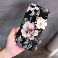3D Retro Floral Case for iPhone 7 7Plus iPhone se 5s 6 6 Plus Best Protection Cover +Gift Box