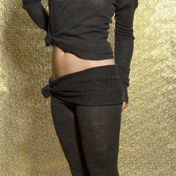 Dancewear Sweater & Drawstring Roll Waist Tights
