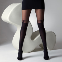 Gipsy Tights - MOCK OVER THE KNEE WITH DOUBLE STRIPE