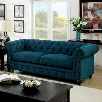 Furniture of America Staffers Traditional Deep Tufted Tuxedo Style Sofa | Overstock.com Shopping - The Best Deals on Sofas & Loveseats