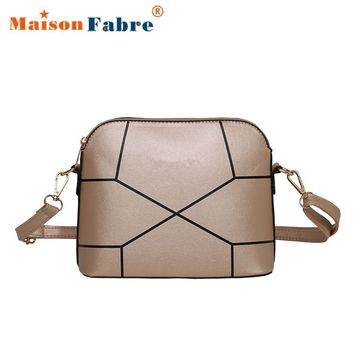 Women Fashion Crack Pu Leather Money Phone Messenger Bag Girls Elegant Shoulder Bag Female Crossbody Bag Ladies Purse 2017