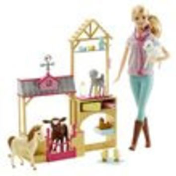 Barbie Farm Vet Doll Playset
