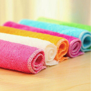 Absorbent Microfiber Towels Hand Towel Kitchen Dishcloth Dishrag Washcloth CA3C