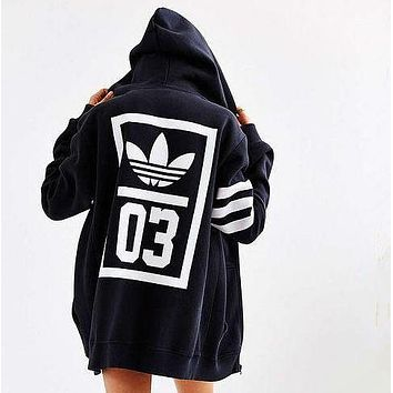 adidas Originals Trefoil Zip-Up Hooded Sweatshirt
