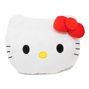 Red Hello Kitty Plush Pillow, 16-Inch