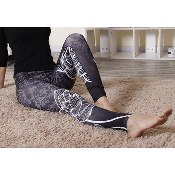 Hip Up Hot Sale Print Sports Yoga Leggings [10177713479]