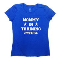 Mommy In Training Rookie Dept Shirt Pregnancy T-Shirt Pregnancy Announcement TShirt Pregnancy Reveal New Baby Gift For New Mom Tee - SA328