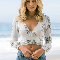 Flynn Skye - That's A Wrap Top | White Rose