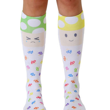 Steph Stone Mushroom Buddies Knee High Socks