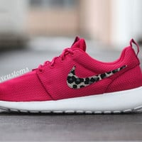 Leopard Print Animal Print Roshe Run Womens