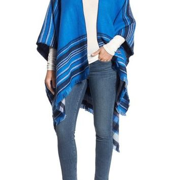 Echo Stripe Reversible Cape | Nordstrom