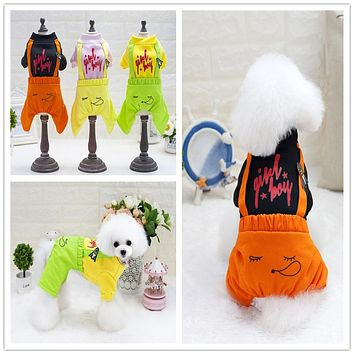 Pet Winter Denim Dog Jumpsuits