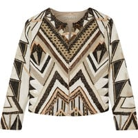 Alice + Olivia - Lainey embellished silk jacket