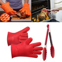 Kitchen Cooking Set with  Silicone Gloves Plus Silicone Tong