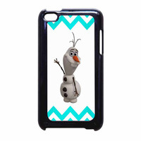 Olaf Disney Frozen Blue Chevron iPod Touch 4th Generation Case