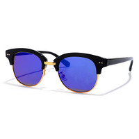 Sightseer Black and Blue Mirrored Sunglasses