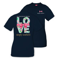 Let All That You Do Be Done In Love Tee in Navy by Simply Southern
