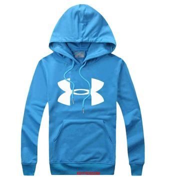 Under Armour Women Men Casual Long Sleeve Top Sweater Hoodie Pullover Sweatshirt-1