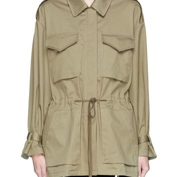 3.1 Phillip Lim | Sash tie cuff knit back twill parka jacket | Women | Lane Crawford - Shop Designer Brands Online