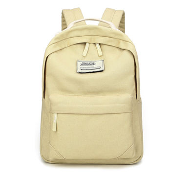 Back To School On Sale Casual Stylish College Hot Deal Comfort Korean Soft Canvas Backpack [4915435588]