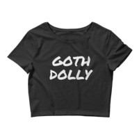 Goth Dolly - Sexy Cropped Goth Tee Shirt