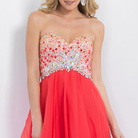 Strapless Empire Waist Homecoming Dress by Blush