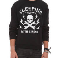 Sleeping With Sirens Skull Crew Pullover