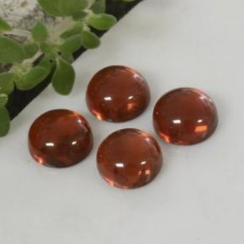 1.66 ct (total) Round Cabochon Red Pyrope Garnet 4.1 mm