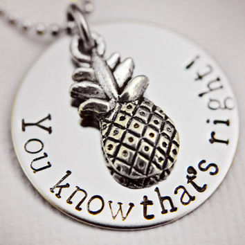Psych Fan You know that's right Necklace  by StampedMemoriesbyMel
