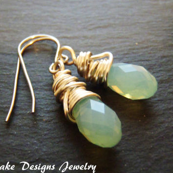 Wire wrapped crystal earrings crystal opal wire wrap earrings