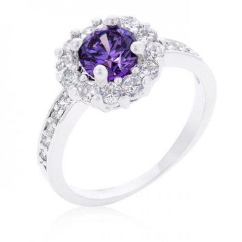 Purple Halo Engagement Ring (size: 10) (pack of 1 ea)