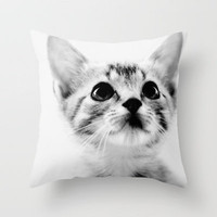 Sweet Kitten Throw Pillow by Erin Johnson | Society6
