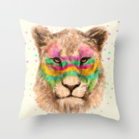 Lioness II Throw Pillow by Dogooder