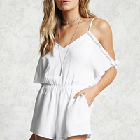 Open-Shoulder Cami Romper