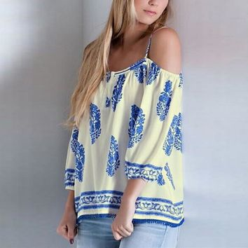 Women's Summer Blouse With Sexy Spaghetti Straps.  Cute and Comfortable.  In Sizes From Small to 3XL.  ***FREE SHIPPING**