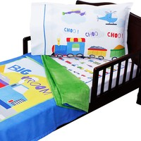 Cars Planes and Trains - Toddler Bedding Set