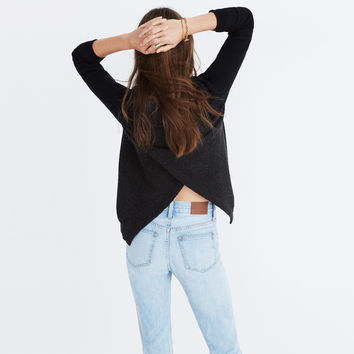 Province Cross-Back Pullover Sweater in Colorblock : shopmadewell pullovers | Madewell