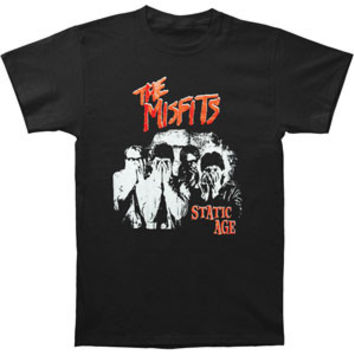 Misfits Men's  Static Age T-shirt Black
