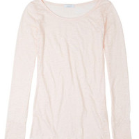 Laura Solid Thumbhole Long-Sleeve Top