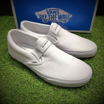 Best Online Sale Fashion Vans X Balenciaga Slip-On OG XH92 White Casual Shoes VN00097M