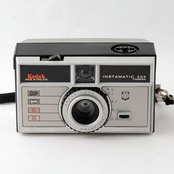 Kodak Instamatic 204 126 Cartridge Camera with Case Working