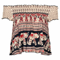 ELEPHANT PRINT TOP BY BAND OF GYPSIES