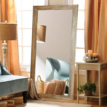 "Brandt Works Blonde Barnwood Floor Mirror BM034T 32""x71"""
