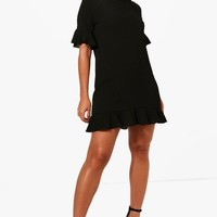 Maya Ruffle Hem Shift Dress | Boohoo