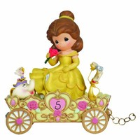 "Precious Moments, Disney Showcase Collection, Birthday Gifts, ""A Beauty To Behold At Five Years Old"", Disney Birthday Parade, Age 5, Resin Figurine, #104407"