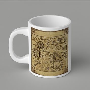 Gift Mugs | Harry Potter Epic Map Ceramic Coffee Mugs