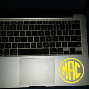 Monogram Decal, Monogram Sticker, Monogram Cup, Cup stickers, Laptop Stickers, Car Monogram, Vinyl Decal, Laptop Decal, Macbook Decal,Custom